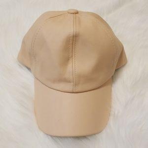 Fashion Nova Nude Leather hat!